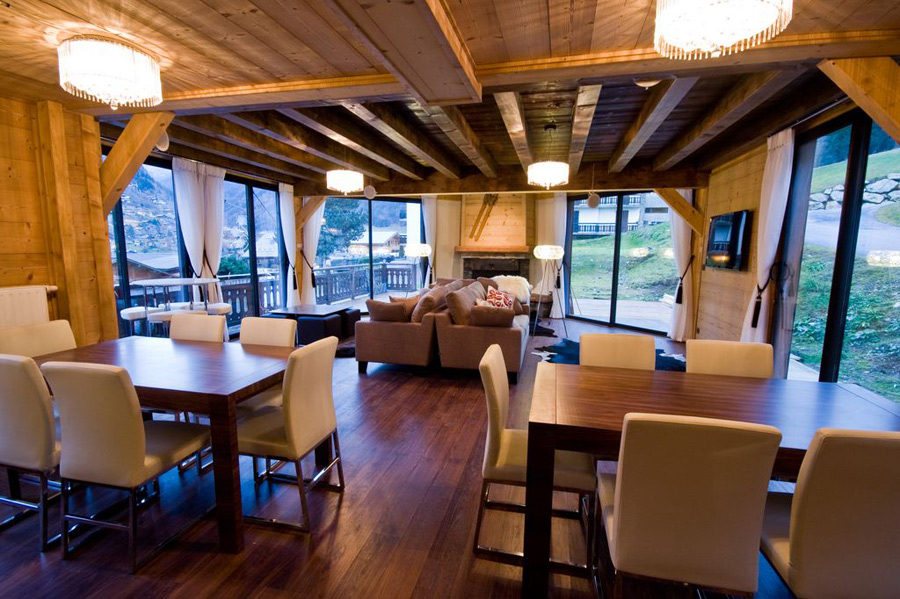 New luxury morzine chalet for 5 star living rooms