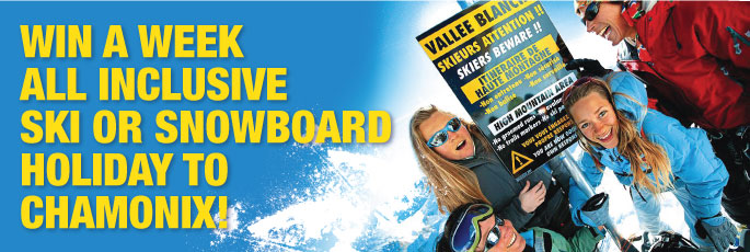 Win an all-inclusive ski holiday in Chamonix from our partners Ski-Lifts and Action-Outdoors