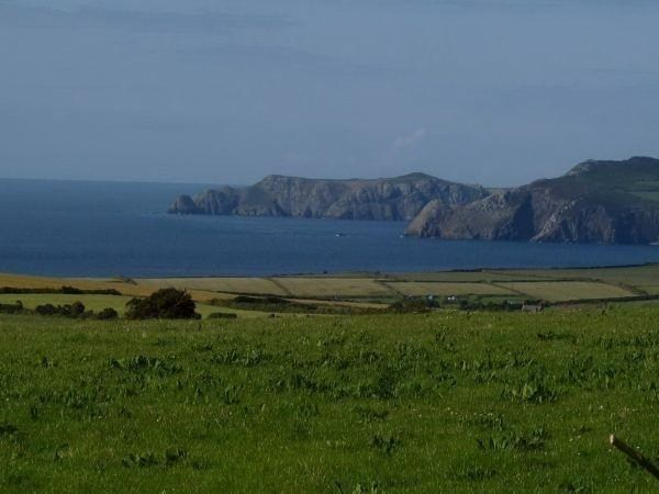 View from holiday cottage St Davids Pembrokeshire